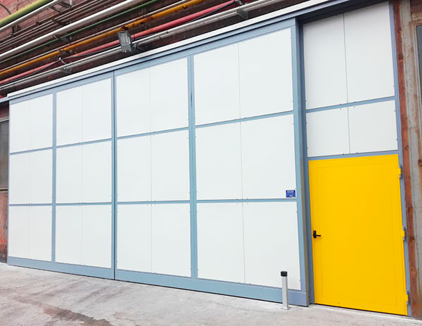 Industrial soundproof doors