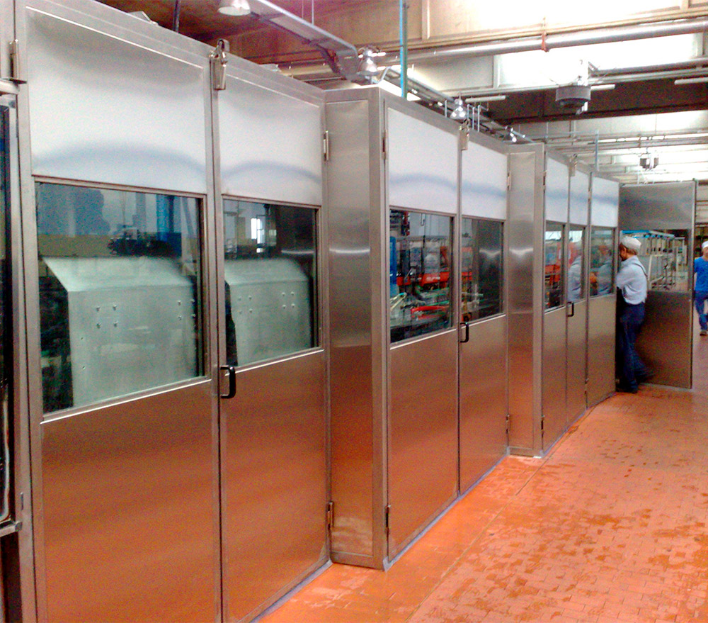 Soundproof cabins stainless steel